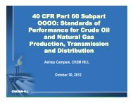 40 CFR Part 60 Subpart OOOO: Standards of Performance ... - IPEC
