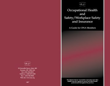 Occupational Health & Safety - local70 - Ontario Nurses' Association