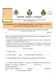 modulo domanda bollo euro 16 - Comune di Bagnolo in Piano