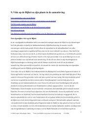 9. Visie op de Bijbel en zijn plaats in de samenleving