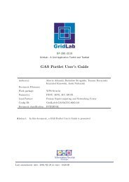 GAS Portlet User's Guide - GridLab