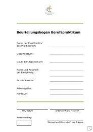 Beurteilungsbogen Berufspraktikum - Marianum