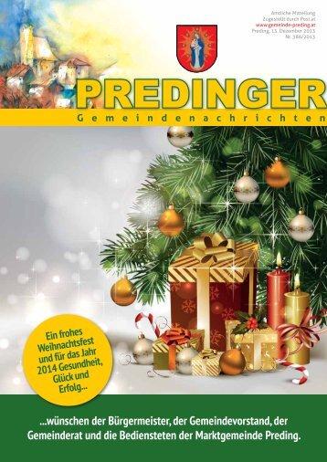 Gemeindenachrichten Nr. 386 - Weihnachtsausgabe