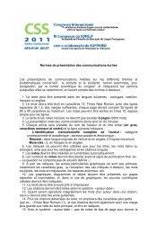 Normes de présentation des communications écrites Les ...