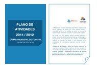 PLANO DE ATIVIDADES 2011 / 2012 - Câmara Municipal do Funchal