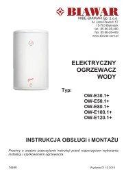 ELEKTRYCZNY OGRZEWACZ WODY - elektrykasklep.pl