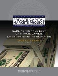 Capital Markets Survey Report, Winter/Spring 2010 - Graziadio ...