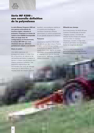 Série MF 4300 - Jacopin Equipements Agricoles