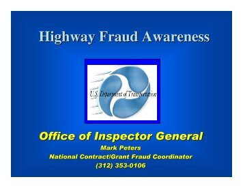 Highway Fraud Awareness