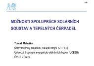 možnosti spolupráce solárních soustav a tepelných ... - FS ČVUT