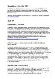 Esteettömyystiedote 1 / 06 - Invalidiliiton Etelä-Suomen alue, IE-SA