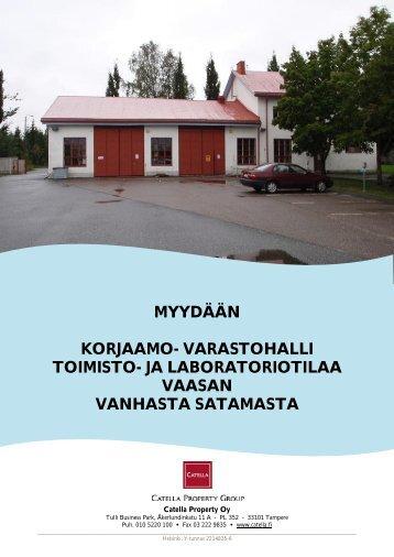 myydään korjaamo- varastohalli toimisto- ja ... - Toimitilat.fi