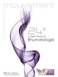 Lundi 12 décembre - Société Française de Rhumatologie
