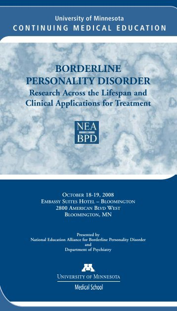borderline personality disorder - University of Minnesota Continuing ...