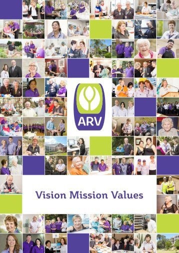 Vision Mission Values - Anglican Retirement Villages