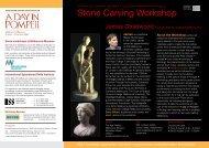 Stone Carving Workshop - International Specialised Skills Institute