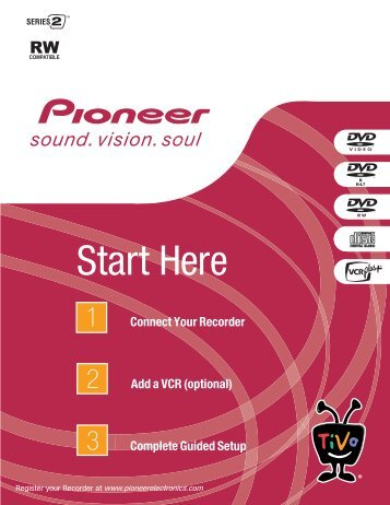 Pioneer DVD Recorder Start Here guide - TiVo