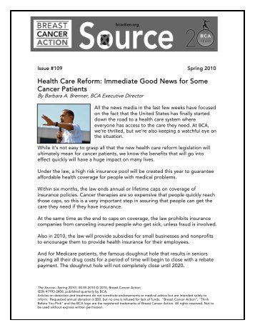 Download Newsletter #102 in PDF Format - Breast Cancer Action