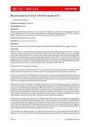 Becas Excelencia en Salud y Nutrición Agosto ... - Becas - Universia
