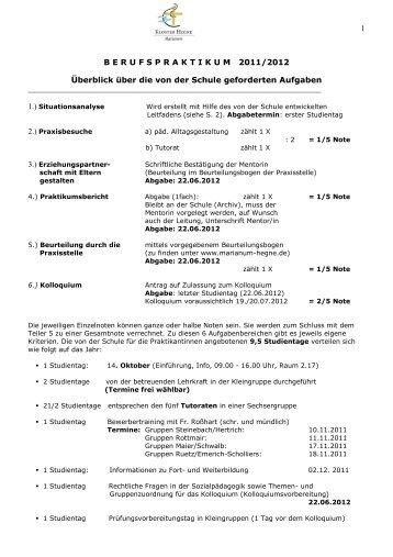 MARIANUM HEGNE Fachschule für Sozialpädagogik