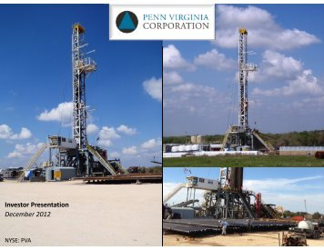 Investor Presentation December 2012 - Penn Virginia Corporation