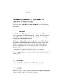 Avtal om läkarmedverkan inom hälso- och sjukvård i ordinärt boende.