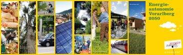 Folder Energieautonomie Vorarlberg - Energieinstitut Vorarlberg