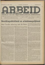 Arbeid (1942) nr. 22 - Vakbeweging in de oorlog