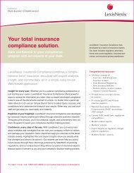 Your total insurance compliance solution. - LexisNexis