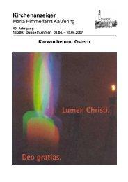 Kirchenanzeiger - Pfarrei MARIA HIMMELFAHRT Kaufering