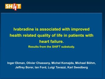 Ivabradine is associated with improved health related quality of life ...
