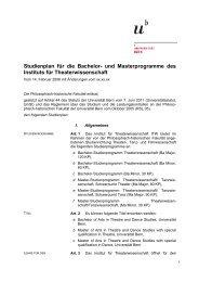 Studienplan für die Bachelor- und Masterprogramme des Instituts für ...