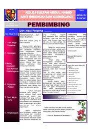 Buletin Pembimbing Keluaran 1/2007 - Jabatan Pelajaran Negeri ...