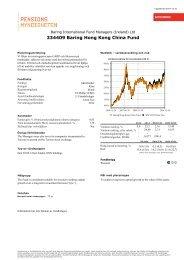 Fondfaktablad för Baring Hong Kong China Fund