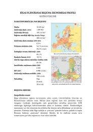 rīgas plānošanas reģiona ekonomikas profils kopsavilkums
