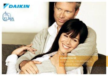 Daikin katalóg bytových a domových klimatizácií 2010 ... - KLIMA s.r.o.