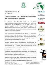 Pressemitteilung 55 - SC DHfK Leipzig eV