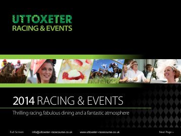 2013RACEDAY HOSPITALITY - Uttoxeter Racecourse