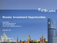 Russia: Investment Opportunities