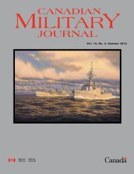 CA JOURNAL - Revue militaire canadienne