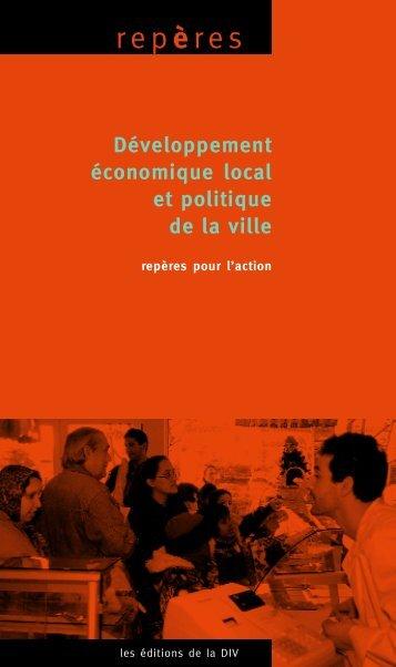 Développement économique local et politique de la ville