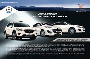 "Die M{zd{ ""Taxi-Line"" Modelle - Mazda Autohaus Rottmann"