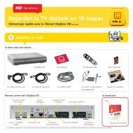 Guide d'installation Digibox HD DB-AD200 - Klantenservice - Telenet