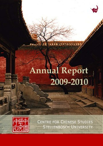 Read Annual Report - The Centre for Chinese Studies