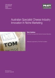 Australian Specialist Cheese Industry Innovation In Niche Marketing
