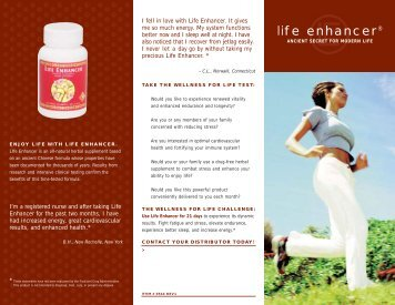 life enhancer® - Neways Pure Natural Products from Health and ...