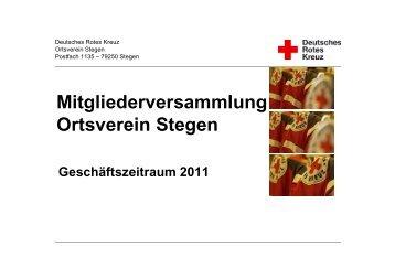 Jahresbericht 2011 - DRK-Ortsverein Stegen