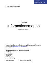 Fachschaft Systems Engineering & Lehramt Informatik - Wiki