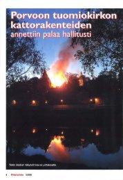 Porvoon kirkkopalo 2006 - Pelastustieto
