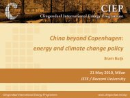 Energy and climate policy in China - Iefe